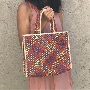 Medium Structured Handwoven Tote Bag